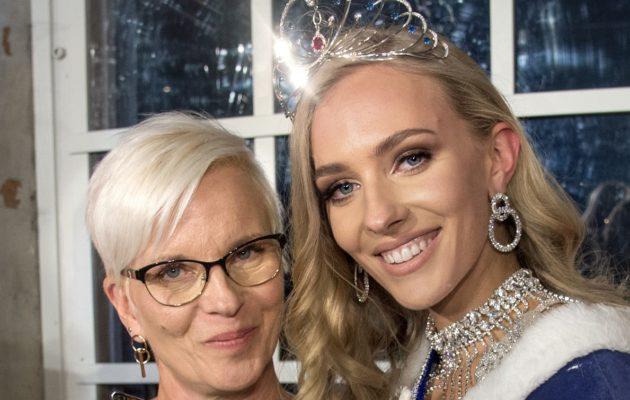 Miss Suomi 2019 Anni Harjunpää Päivi-äitinsä kanssa.