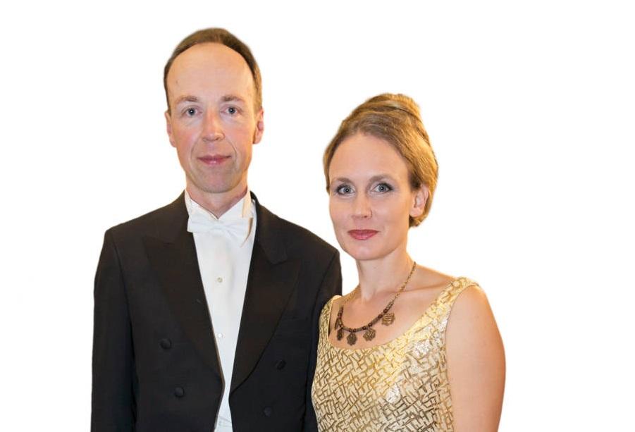 Jussi Halla-aho Hilla-vaimonsa kanssa